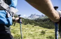 Toller Blick auf den Berg Patriol im Silbertal