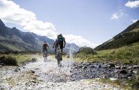 Unterwegs mit dem Mountainbike im Silbertal im Montafon