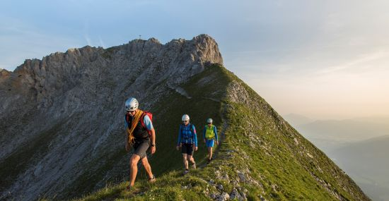 Bergtour auf den Wilden Kaiser bei St. Johann in Tirol.