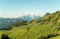 Die Kitzbüheler Alpen bieten tolle Panoramen: hier mit Blick auf die Loferer Steinberge