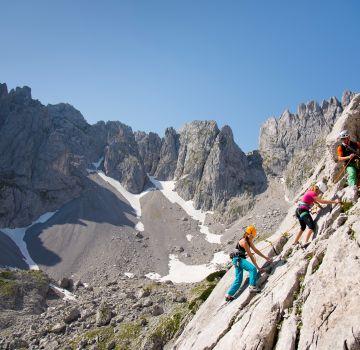 Climbing tour at the Wilder Kaiser in St. Johann in Tirol