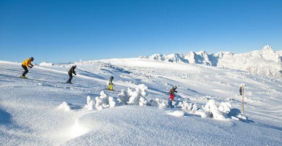 Skifahren vor toller Kulisse in Hinterstoder