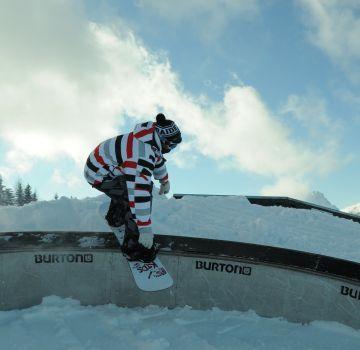 Cooler Snowpark im Skigebiet Hinterstoder-Höss