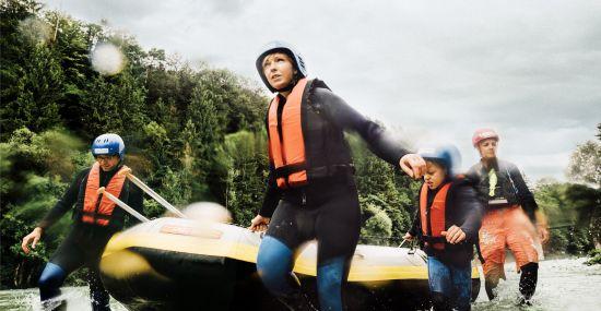 Action erleben beim Rafting