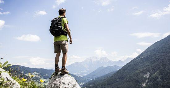 Den Ausblick auf das Berchtesgadener Land genießen