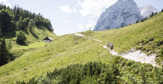 Wanderung in Richtung Halsalm vor dem Hohen Gerstfeld