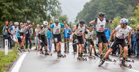 Rollerski Wettbewerb in Partenen