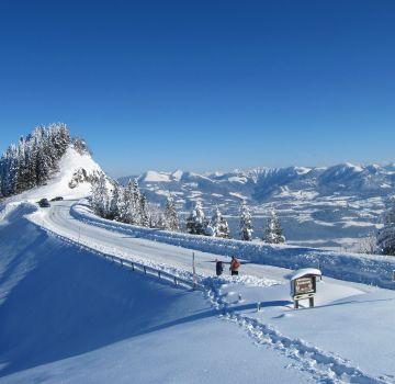 Die Rossfeld Panoramastraße im Winter