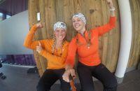 Kathi und Chiara sind voll motiviert