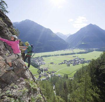 Klettersteig Lehner Wasserfall bei Längenfeld