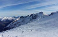 Skifahren auf dem Hintertuxer Gletscher