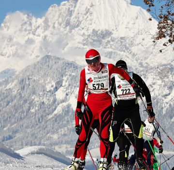 Koasalauf in St. Johann in Tirol vor dem Wilden Kaiser