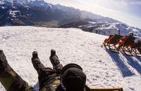 Pause auf der Kristallhütte mit Panoramablick