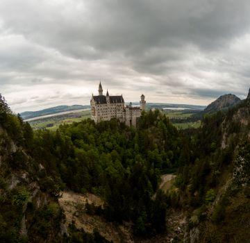 Bei jedem Wetter ist das Märchenschloss einen Besuch wert.