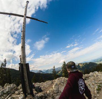 Von der Alpspitze das Allgäu überblicken