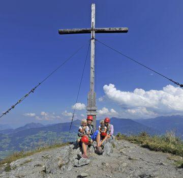 Auf dem Gipfel des Spieljochs im Zillertal