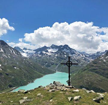 Aussicht vom Bielerkopf auf den Silvretta Stausee
