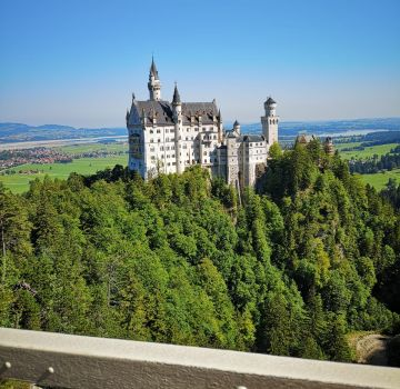 Schloss Neuschwanstein von der Marienbrücke aus