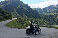 Hotelmanagerin Heike auf Motorradtour