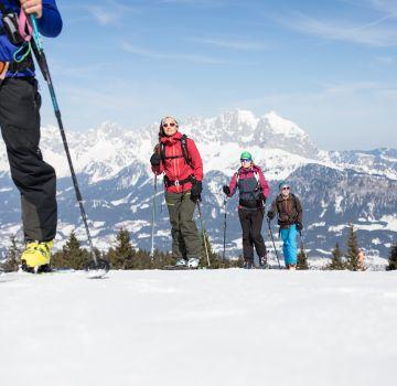 Auf einer Skitour gibt es viel zu entdecken