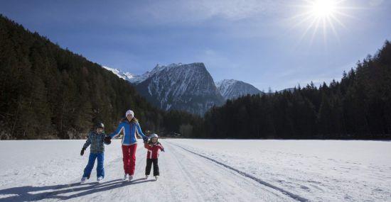 Eislaufen am Piburger See