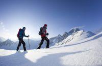 Sonnige Schneeschuhwanderung im Ötztal