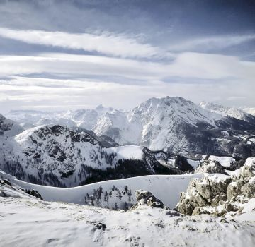 Bergpanorama Berchtesgadener Land im Winter
