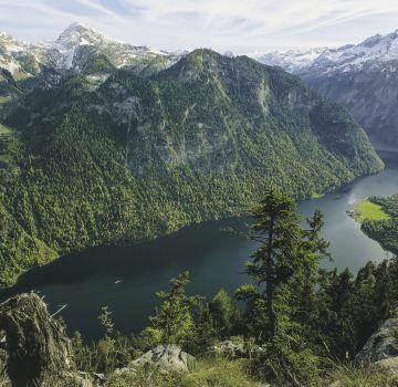 Blick auf den Königssee von der Archenkanzel