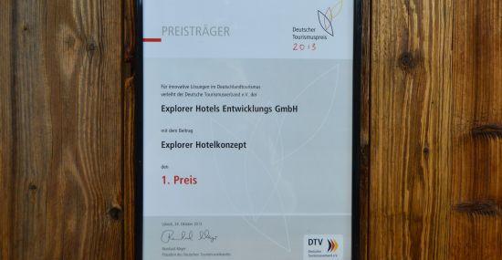 Deutscher Tourismuspreis 2013 - Preis