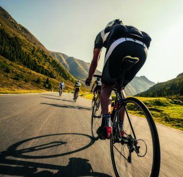Radfahren mit Rückenwind, Fotograf: Jürgen Skarwan