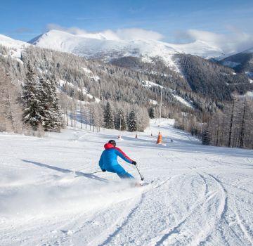 Auf Skiern durch die Winterlandschaft