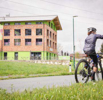 Gali vom Mountainbike Racingteam zu Gast im Explorer Hotel Kitzbühel