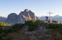 Am Gipfelkreuz des Breitenbergs