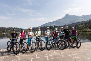 Die Teilnehmerinnen des Explorer Ladies Bike Camps in Kitzbühel