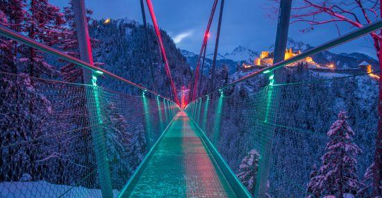 Highline 179 im Winter