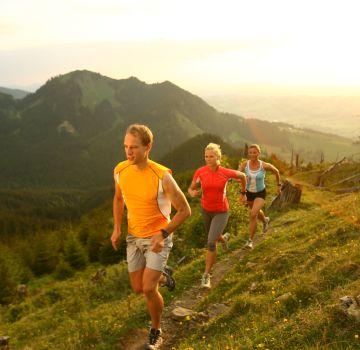 Laufen kannst Du wunderbar auf der Alpspitze