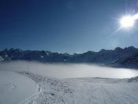 Winter: Blick vom Fellhorn richtung Osten