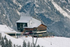 Fellhorn Mittelstation Restaurant im Winter