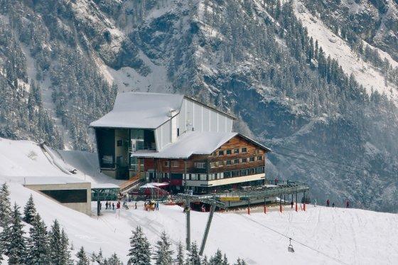 Fellhorn Mittelstation Restaurant im Winter