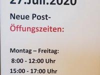 Neue Öffnungszeiten ab Juli 2020