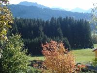 Sicht auf die Berge von der Fewo Fuchsbau