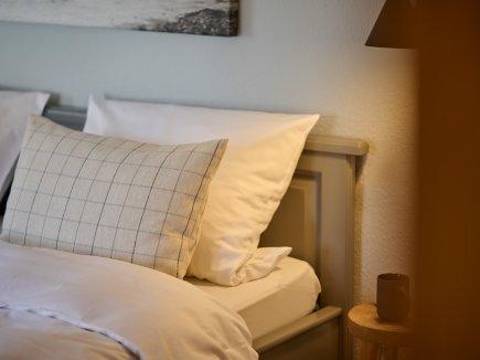 Bett in der Wohnung HofBlick 2