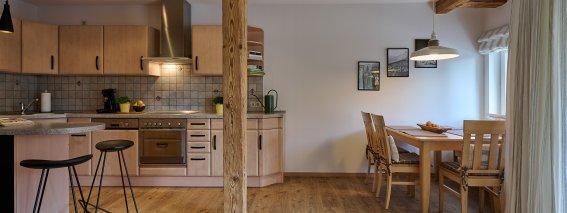 Wohnküche der Ferienwohnung LindenBlick