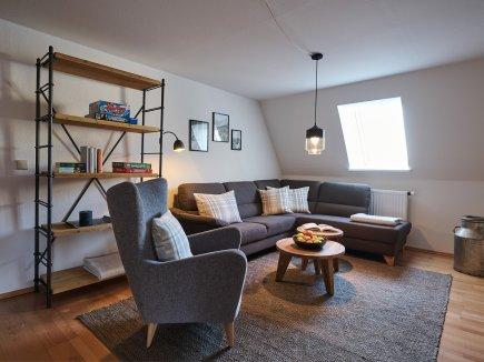 Wohnzimmer der Ferienwohnung AdeleggBlick