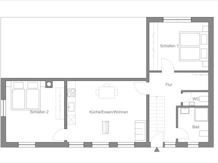 Grundriss der Wohnung HofBlick 2