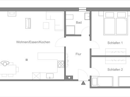 Grundriss der Ferienwohnung LindenBlick