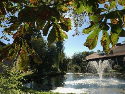 Kurpark und Kurhaus im Herbst