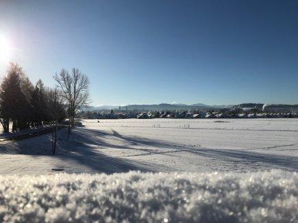 Winterlicher Blick auf Isny