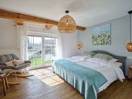 Schlafzimmer der Wohnung HofBlick II