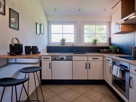 Küche in der Ferienwohnung WiesenBlick